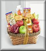 Warmhearted Wishes Fruit and Gourmet Kosher Gift Basket